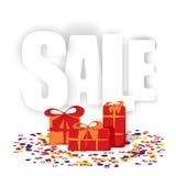 礼物,销售,份额 免版税库存照片