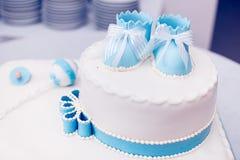 洗礼仪式蛋糕 图库摄影