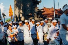 礼仪队伍,巴厘岛,印度尼西亚 图库摄影
