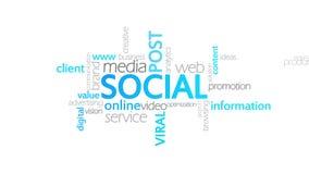 社交,印刷术动画 向量例证