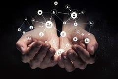 社会互作用概念 3d回报 免版税库存照片