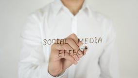 社会介质效应,写在玻璃 免版税库存照片