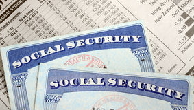 社会保险和退休收入 图库摄影