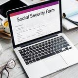 社会保险津贴形式概念 库存照片