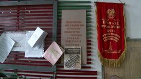 社会劳方的共产主义竞争信号旗优胜者在苏联 影视素材