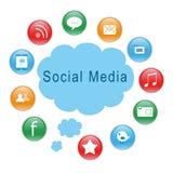 社会图标媒体 库存图片