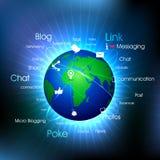 社会地球媒体 库存例证