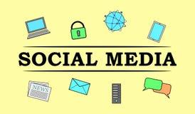 社会媒介的概念 库存例证