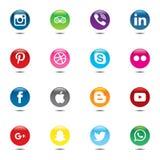 社会媒介组装 网站的,模板,横幅美好的色环设计 免版税库存照片