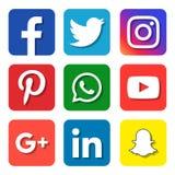 社会媒介象 向量例证