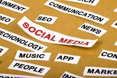 社会媒体概念 库存图片