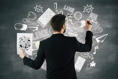 社会媒体概念 免版税库存图片