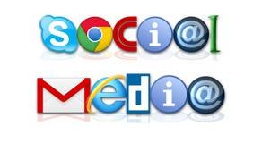 社会媒体 库存例证