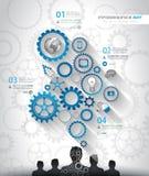 社会媒介和云彩概念Infographic背景 向量例证