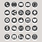 社会媒介和电子商务传染媒介 库存图片