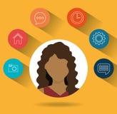 社会媒介和网络设计 免版税库存图片