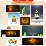 社会媒介岗位或倒栽跳水圣诞节庆祝的 免版税库存照片