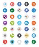 社会媒介按钮 库存图片