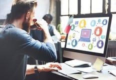 社会媒介社会网络技术连接概念 免版税库存照片