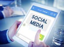 社会媒介逗留被连接的概念 免版税库存图片