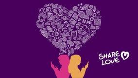 社会媒介份额爱女同性恋的构思设计 向量例证