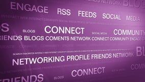 社会媒介networking_connection backgorund 4K 影视素材