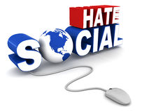 社会怨恨 库存例证