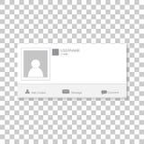 社会照片框架 与模板框架联系 插入您的pi 免版税库存图片