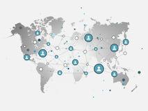 社会网络传染媒介设计观念例证 免版税图库摄影