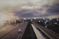社会网络和机动性 图库摄影