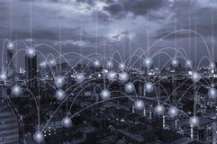 社会网络和机动性 免版税库存图片