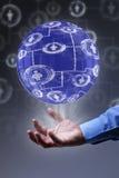 社会网络连接概念 免版税库存图片
