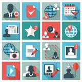 社会网络图标 免版税库存照片