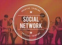 社会网络媒介连接通信概念 库存图片
