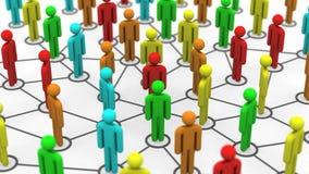 社会网络成长 向量例证