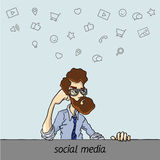 社会网络效率和表现 库存例证