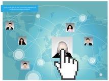 社会网络构思设计。 库存图片