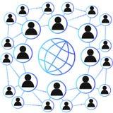社会网络概念,传染媒介 图库摄影