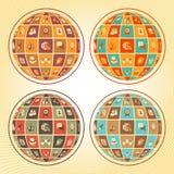 社会网络球形  向量例证