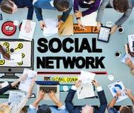 社会网络社会媒介互联网万维网网网上概念 免版税库存照片