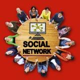 社会网络社会媒介互联网万维网网网上概念 库存照片