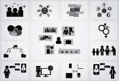 社会网络象 图库摄影