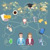 社会网络,人通信概念 免版税库存图片