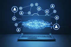 社会连接和网络   免版税库存照片