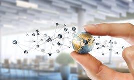社会连接和网络 混合画法 混合画法 免版税库存照片