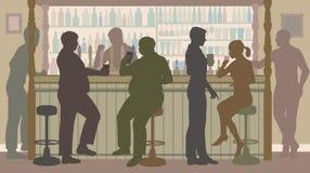 社会酒吧 库存照片