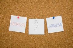 社会主义或资本主义 免版税库存图片