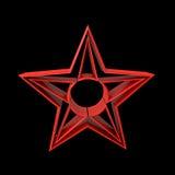 红色星 库存图片