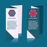 社会infographic的小册子设计,图 免版税库存照片