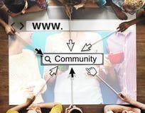社区团体网站网页网上技术概念 免版税库存图片